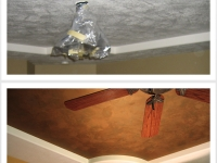 Before & After Photos, Tray Ceiling, Crows Foot Texture, Italian Finishes, Faux Finishes, Bella Faux Finishes, Sioux Falls, SD
