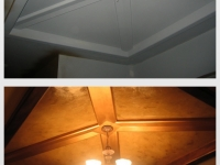 Before & After Photos, Entryway Ceiling, Italian Finishes, Bella Faux Finishes, Sioux Falls, SD