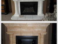 Before & After Photos, Fireplace, Faux Finishes, Bella Faux Finishes, Sioux Falls, SD