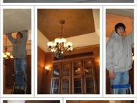 Before & After Photos, Pan Ceiling, Italian Venetian Plaster, Italian Finishes, David Nordgren, Michael Nordgren, Bella Faux Finishes, Sioux Falls, SD