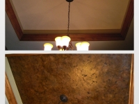 Before & After Photos, Tray Ceilings, Italian Finishes, Bella Faux Finishes, Sioux Falls, SD
