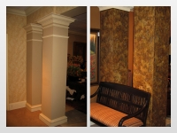 Before & After Photos, Columns, Italian Finishes, Bella Faux Finishes, Sioux Falls, SD