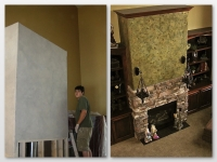 Before & After Photos, Great Room, Fireplace, Italian Finishes, David Nordgren, Bella Faux Finishes, Sioux Falls, SD
