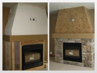 Before & After Photos, Fireplace, Italian Finishes, Bella Faux Finishes, Sioux Falls, SD