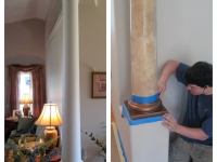 Before & After Photos, Columns, Italian Venetian Plaster, Venetian Plaster, Bella Faux Finishes, Sioux Falls, SD