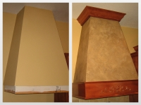 Before & After Photos, Kitchen Range Hood, Italian Finishes, Bella Faux Finishes, Sioux Falls, SD