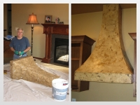 Before & After Photos, Range Hood, Italian Finishes, Mark Nordgren, Bella Faux Finishes, Sioux Falls, SD
