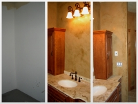 Before & After Photos, Bathroom Walls, Italian Venetian Plaster, Venetian Plaster, Bella Faux Finishes, Sioux Falls, SD