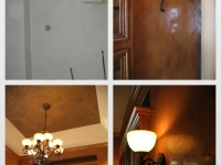 Before & After Photos, Dining Room, Walls, Pan Ceiling, Italian Venetian Plaster, Venetian Plaster, Bella Faux Finishes, Sioux Falls, SD