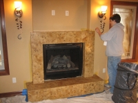 Fireplace, Italian Finishes, David Nordgren, Bella Faux Finishes, Sioux Falls, SD