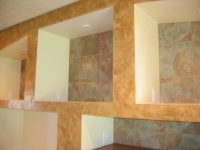 Fireplace Accent Wall, Shadow Box, Italian Finishes, Bella Faux Finishes, Sioux Falls, SD