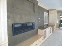 Family Room Fireplace Accent Wall, Italian Finishes, Faux Finishes, Bella Faux Finishes, Sioux Falls, SD