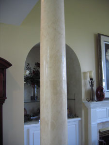 Column faux finish