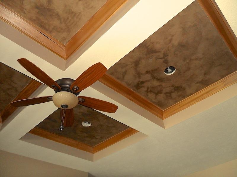 Coffered Ceiling - Italian Venetian Plaster
