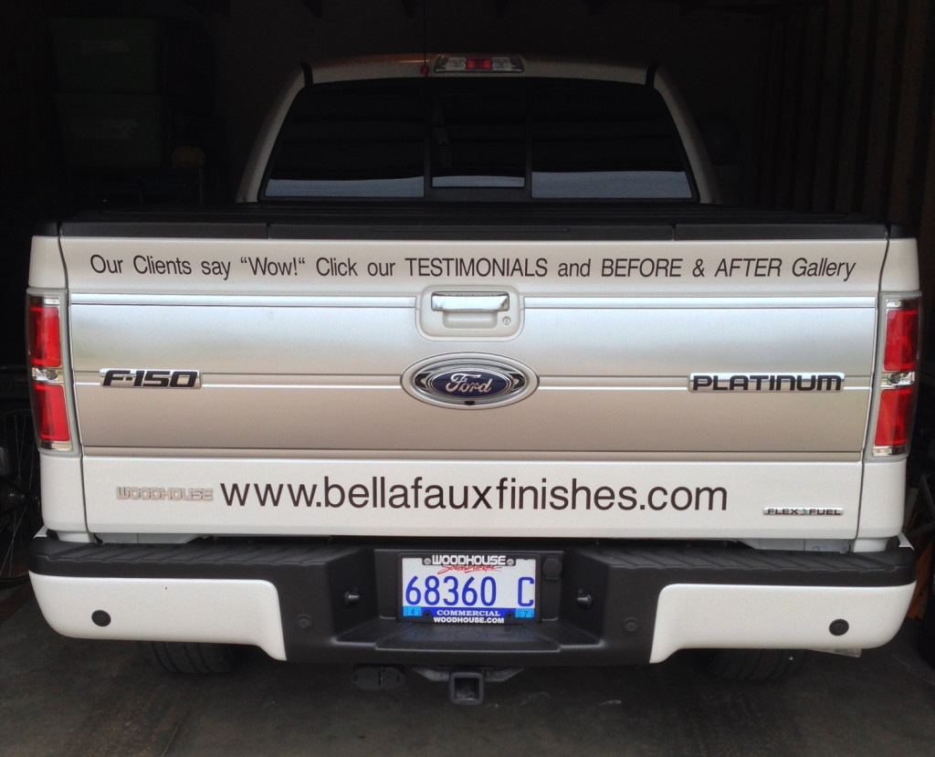 Bella Faux Finishes Truck