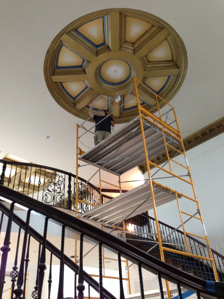 Coffered Octagon Ceiling - Bella Faux Finishes